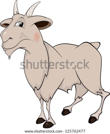 Goat. Cartoon - stock photo