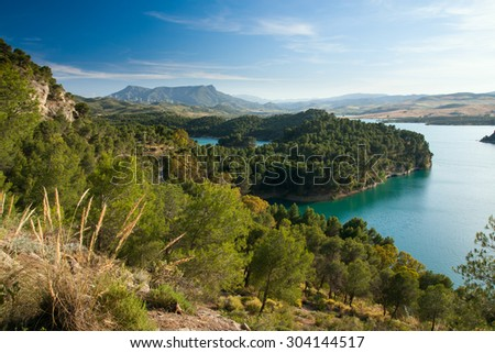 Gobantes, Malaga lake district in Andalusia Spain