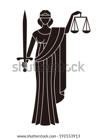 Goddess of justice symbol of justice