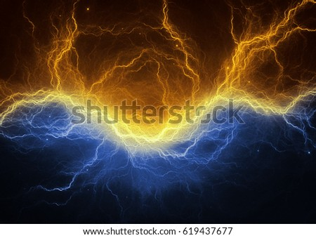 Orange Lightning Stock Illustration 73940386 Shutterstock