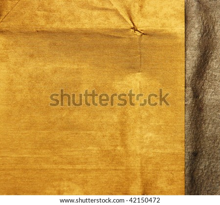 gold and silver paper