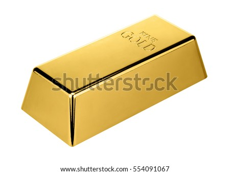 Gold bar isolated on white background. Financial concept. Set of gold bars.