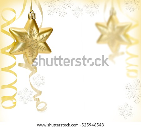 Gold Christmas Star. Christmas toy