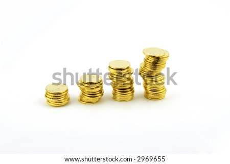 Gold coins Business Graph