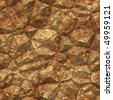 Gold golden metal ore deposits seamless background texture - stock photo