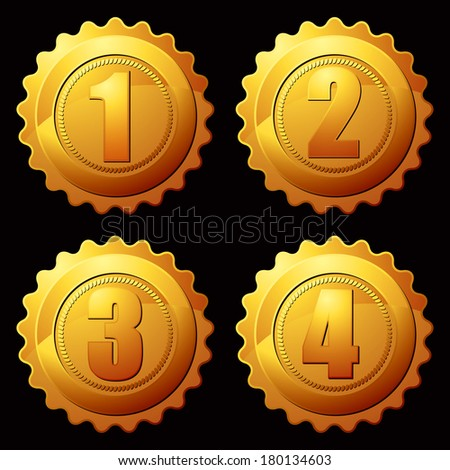 Gold Medallion Stock Vector 76495738 - Shutterstock