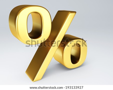 gold percent sign 3d