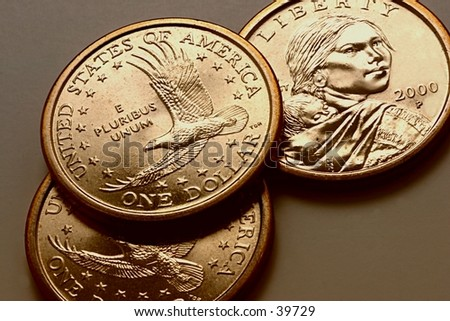 gold plated dollar coins.