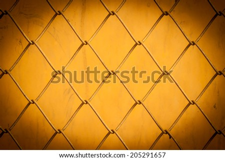 Gold Texture the cage metal net