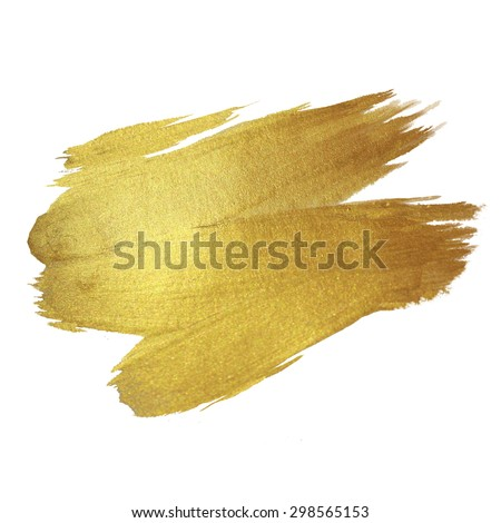 Gold Texture Paint Stain Illustration Hand Stock Vector 298809653 ...