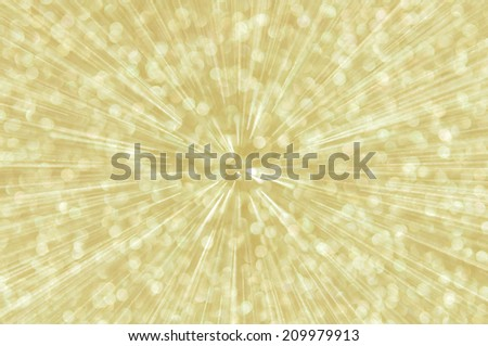 golden abstract explosion with defocused lights background
