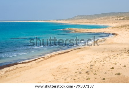 golden beach, Karpaz, North Cyprus