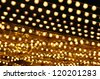 golden bulbs marquee - stock photo