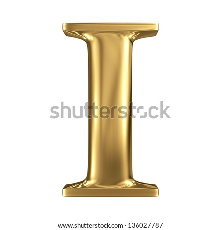 Golden figure high quality 3d render isolated on white