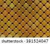 Golden mosaic, gold background - stock photo
