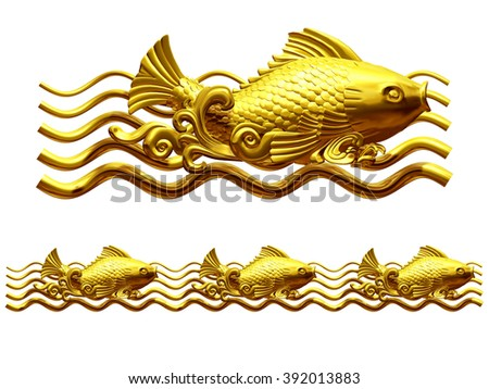 Koi carp golden fish stock illustration 111481631 for Golden ornamental pond fish crossword