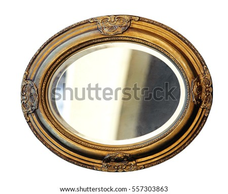 Retro Decorative Frame Isolated Clipping Path Stock Photo