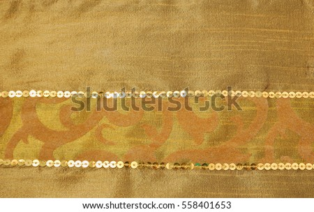 Golden sequins pattern texture fashion background
