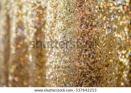 Golden shiny new year or christmas  background of many sequins