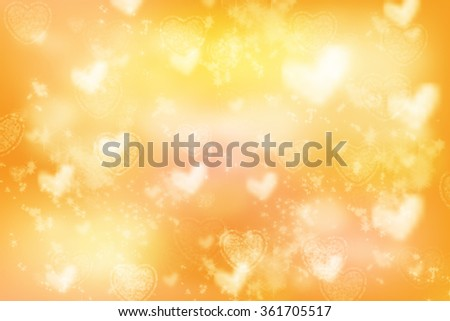 Golden Valentine Background with sparkles and glitter.