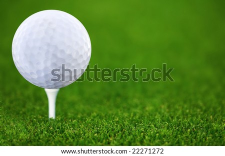 Golf-ball and green golf course