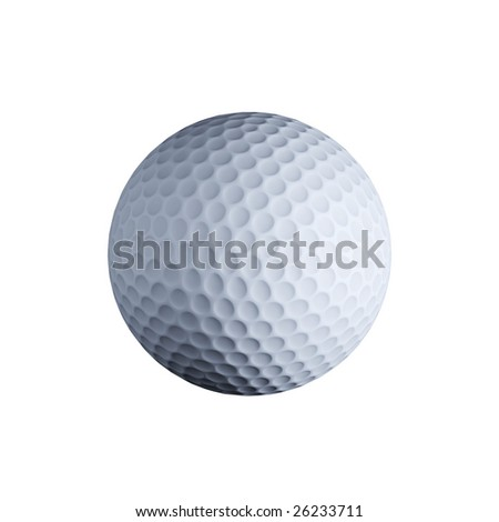 Golf ball isolated on white background (3d rendering)