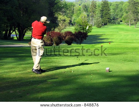 Good form sends the ball straight down the fairway