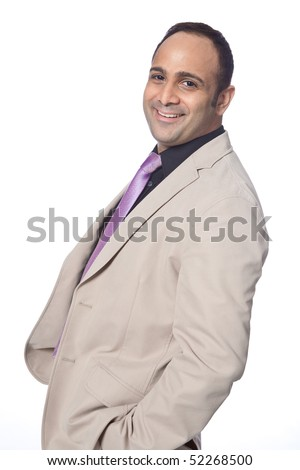 Good looking businessman in suit, isolated