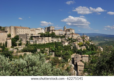 Gordes under a sunny day (Provence)