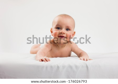 Gorgeous baby  laughing