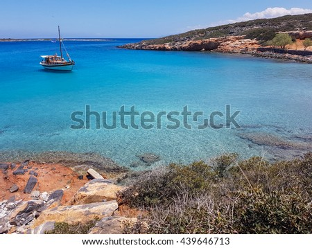 Gorgeous Cretan Sea. Seascape, blue water