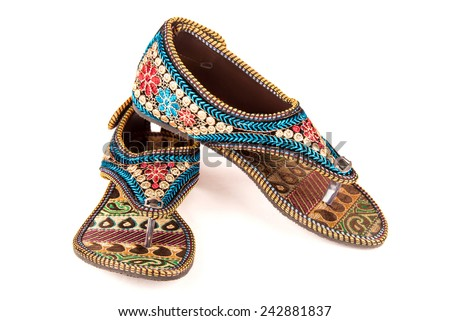 Gorgeous stylish women footwear of ethnic design from India