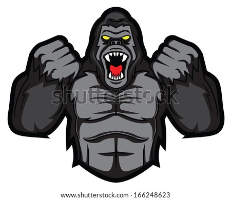 angry cartoon gorilla - photo #2