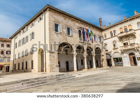 Gothic Communal Palace On Forum Square - Pula, Istria, Croatia