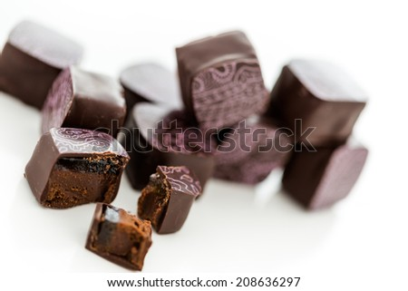 Assorted Chocolate Candies Gift Box On Stock Photo 354718331 ...