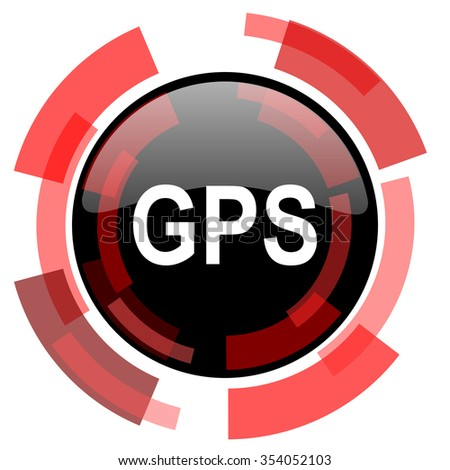gps red modern web icon