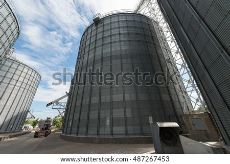 Grain storage silos. Corn,Wheat,broken-milled rice