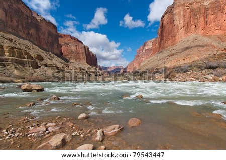 Grand Canyon and the Colorado River near Kwagunt Rapid