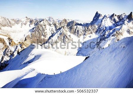 Grand Jorasses, Aiguille du Midi, French Alps