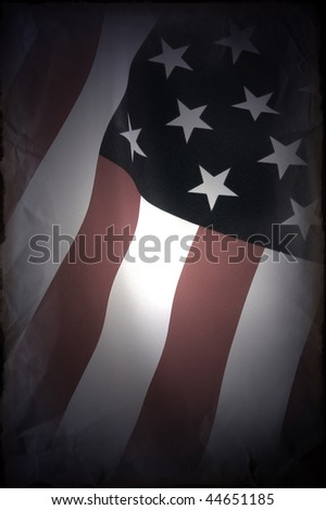 Grange. Abstract American flag background