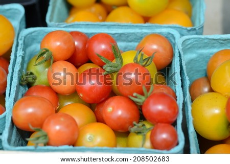 Grape tomatoes at a farmer's market