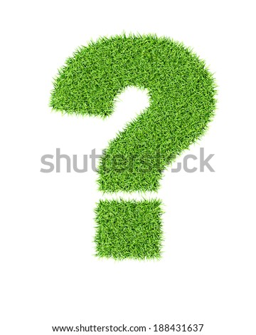 Grass alphabet exclamation mark - ecology eco friendly concept character type