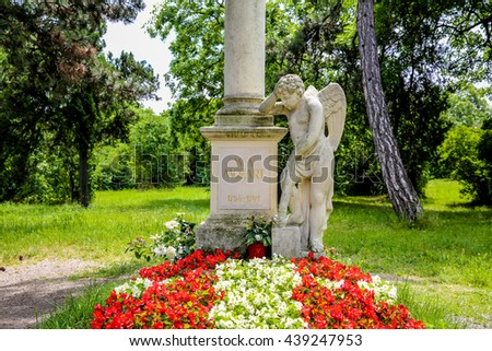 Grave of Wolfgang Amadeus Mozart in Vienna