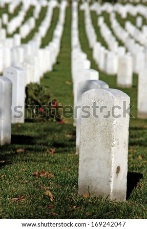 Graves in Arlington National Cemetery