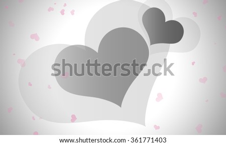 Gray heart on abstract background for valentine day