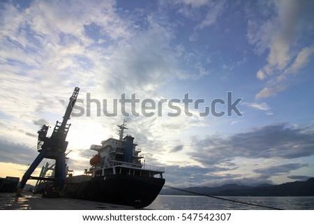 Great boat harbor with a beautiful sky background