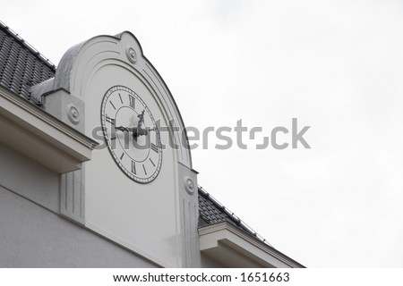 great clock at the building - landscape format