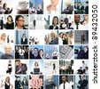 Great collage made of about 250 different business photos - stock