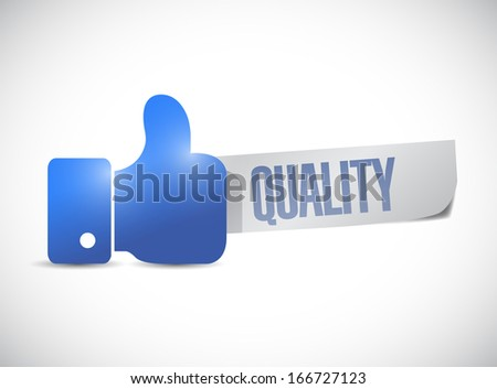 great quality sign hand illustration design over a white background