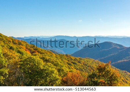 Great Smoky Mountains Colorful Fall Display